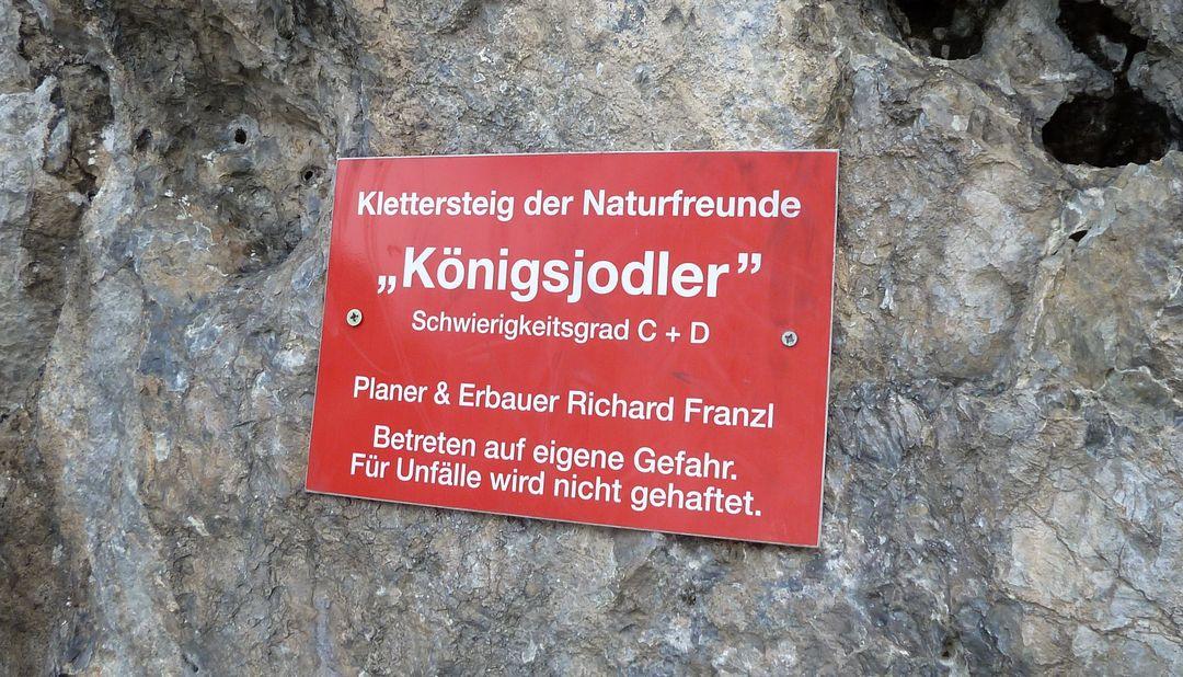 Klettersteig Königsjodler : Königsjodler klettersteig am hochkönig website des dav straubing