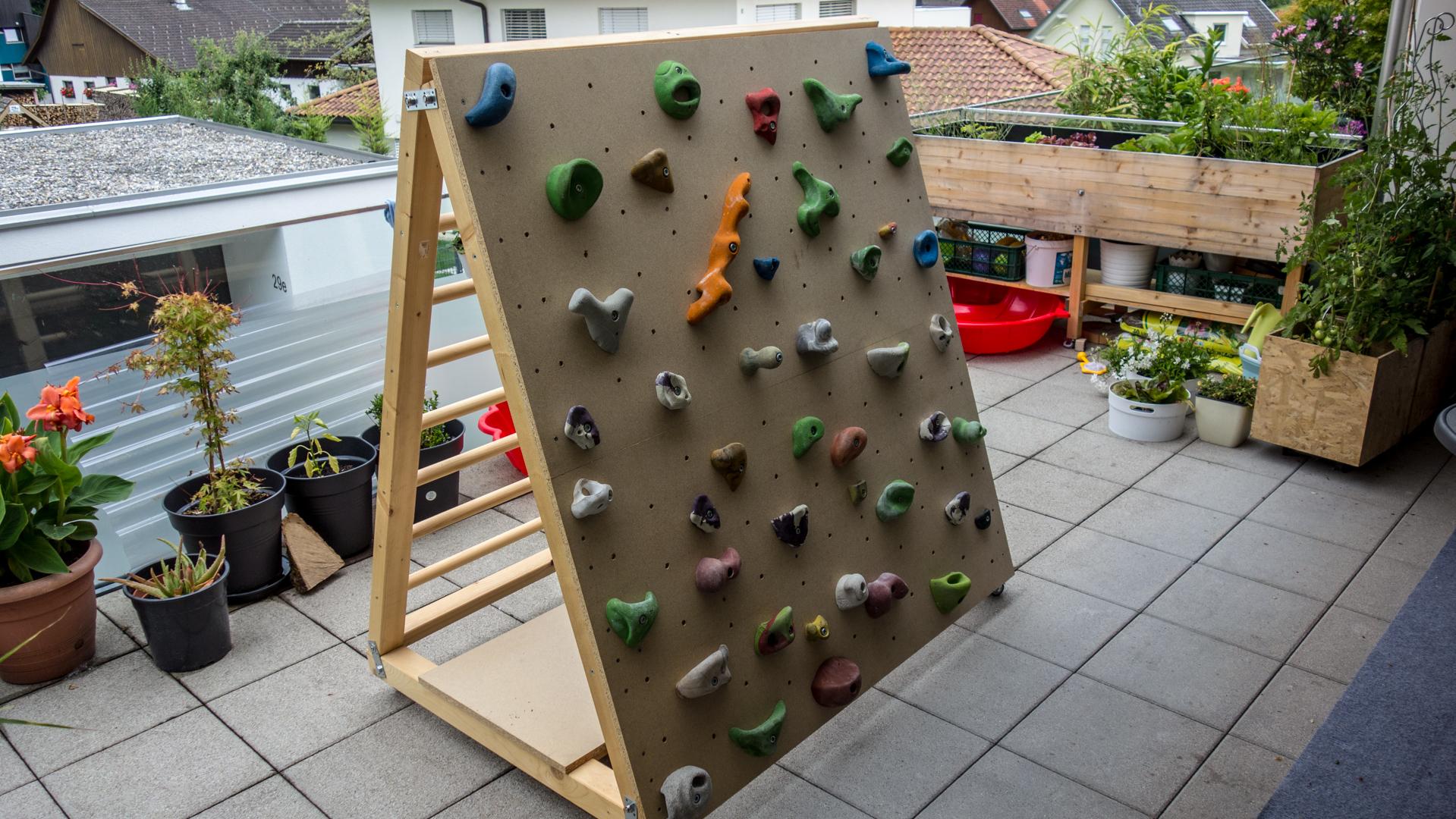 DIY: Mobile (Indoor-)Kletterwand für Kinder | alpin-blog.com